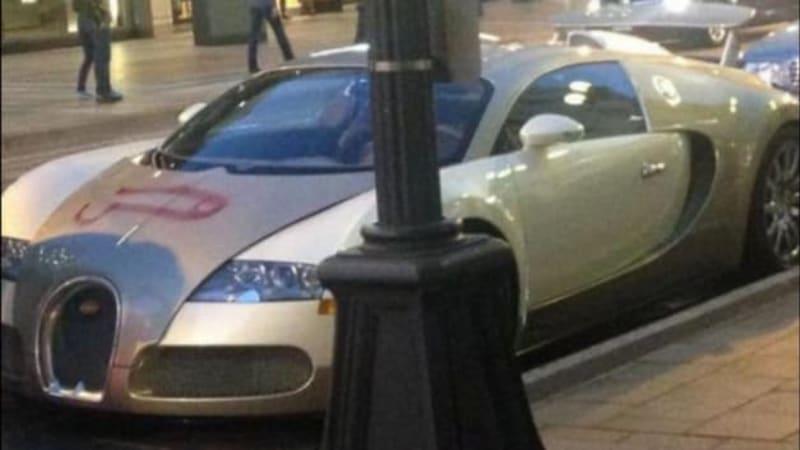 Bugatti Veyron gets shafted