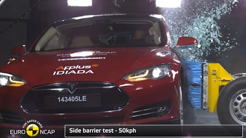 Tesla Model S scores 5 stars in Euro NCAP crash test