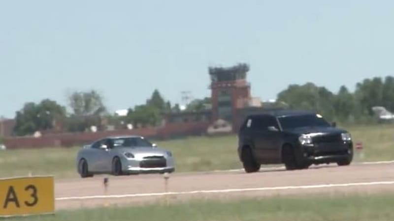 Watch this 840-hp Jeep Grand Cherokee SRT8 walk away from GT-Rs and M3s
