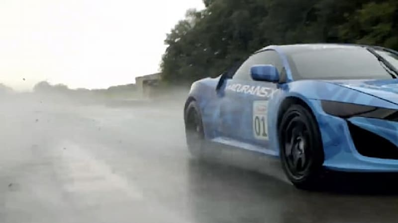 Teased: Acura NSX Prototype Revealed on Track in Ohio