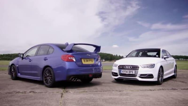 Subaru WRX STI vs. Audi S3 in compact AWD dustup
