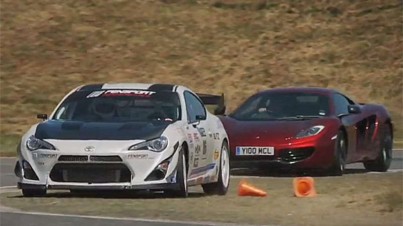 Autocar pits McLaren MP4-12C against turbo Toyota GT86