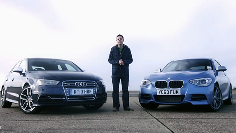 Audi S3 pitted against BMW M135i in track battle