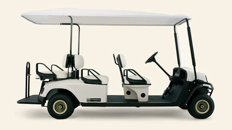 The army 39 s autonomous golf carts will transport wounded for Narrow golf cart