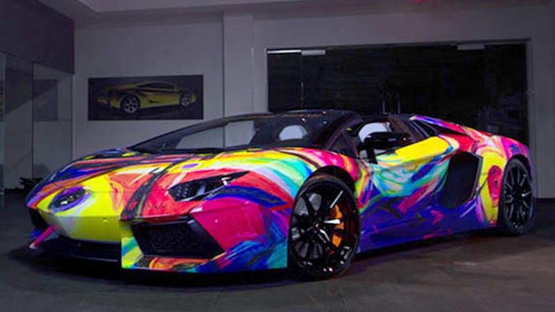 Lamborghini Aventador Art Car Features Every Color Of The Rainbow Autoblog