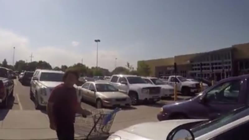 Colorado motorcyclist films parking lot scuffle with speeder