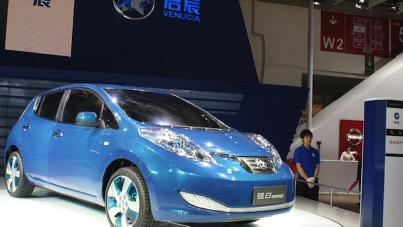 Nissan-Dongfeng's Leaf-based Venucia e30 EV goes on sale in China
