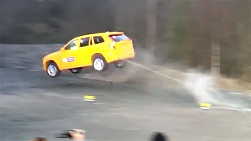 Volvo's XC90 'ditch test' makes for radical video