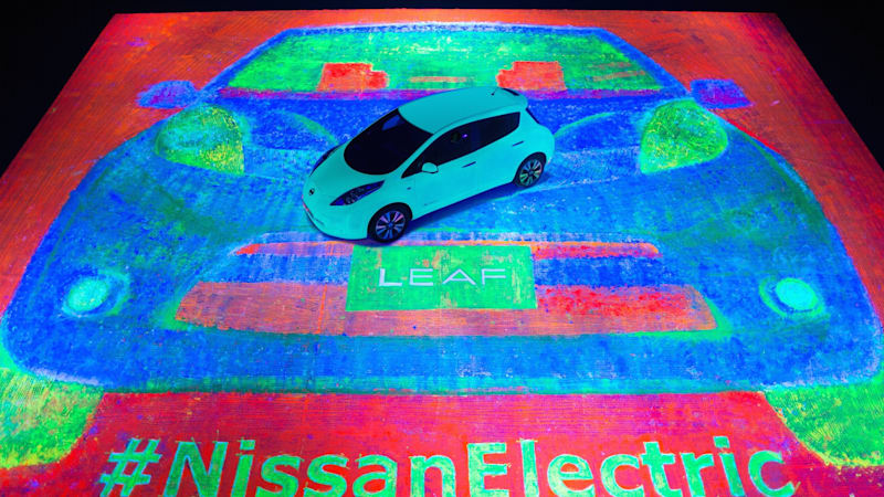 Nissan really milking this whole glow-in-the-dark Leaf thing