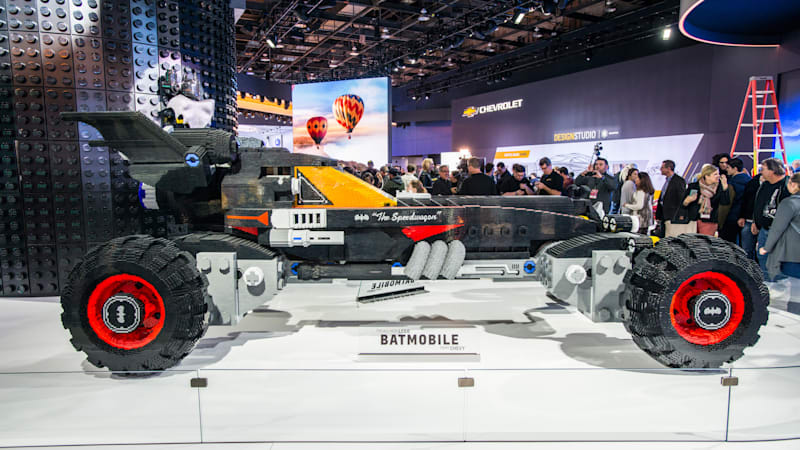 Lego's full-sized Batmobile is one of the coolest cars at the Detroit Auto Show