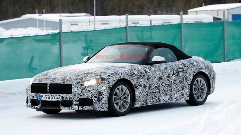 The BMW Z5, a Toyota Supra twin, takes shape as camo drops