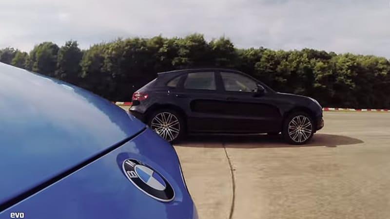 Evo pits BMW M3 against Porsche Macan in drag battle