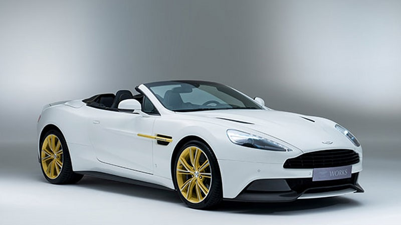 Vanquish 60th anniversary model has knobs made from classic Aston Martins