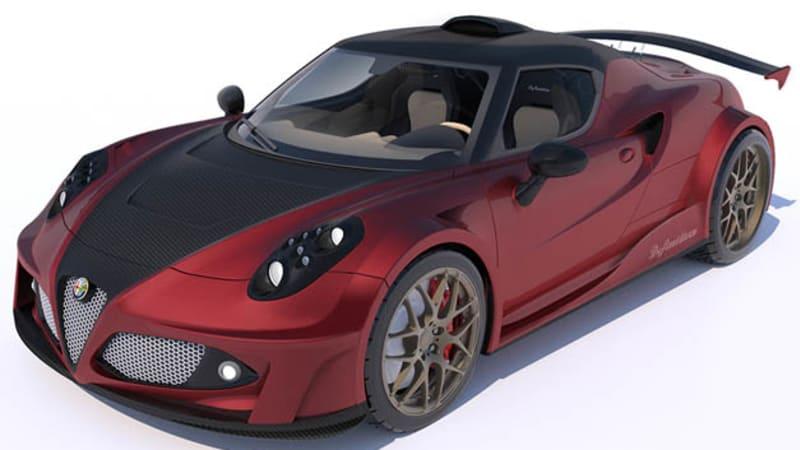 Lazzarini dreams up Ferrari-powered, Hennessey-tuned Alfa Romeo 4C