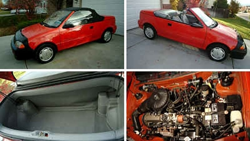 Craigslist Find Of The Day 1992 Geo Metro Convertible
