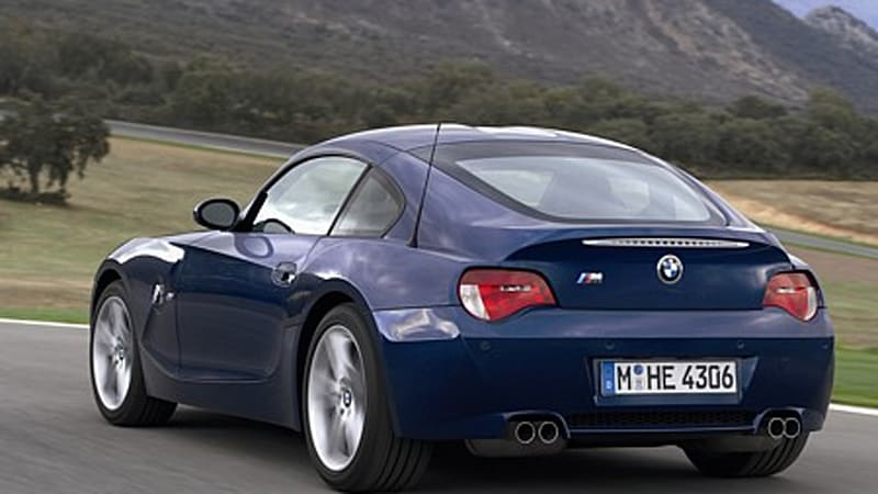 BMW Z4 M Coupe - production version specs and pics - Autoblog