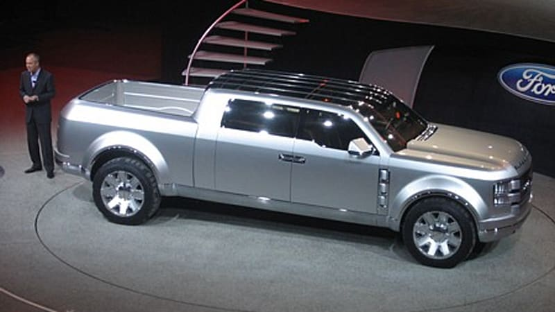 detroit auto show ford super chief concept truck rolls out autoblog. Cars Review. Best American Auto & Cars Review