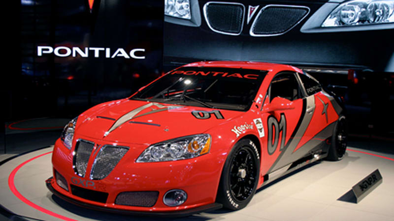 detroit auto show pontiac g6 gxp r autoblog. Black Bedroom Furniture Sets. Home Design Ideas