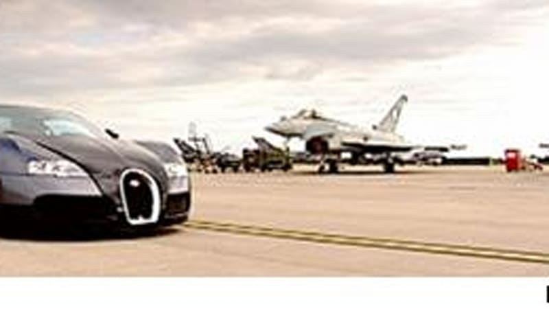 sunday sunday sunday top gear pits bugatti veyron against jet fighter au. Black Bedroom Furniture Sets. Home Design Ideas
