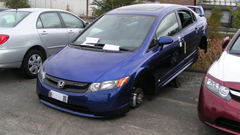 2008 mugen edition honda civic si vandalized on dealer lot. Black Bedroom Furniture Sets. Home Design Ideas