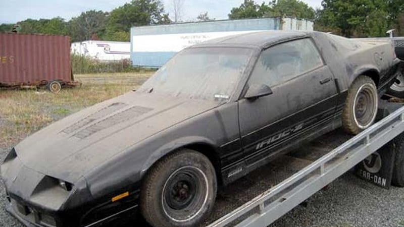 ebay find of the day 39 85 camaro iroc z28 with four miles. Black Bedroom Furniture Sets. Home Design Ideas