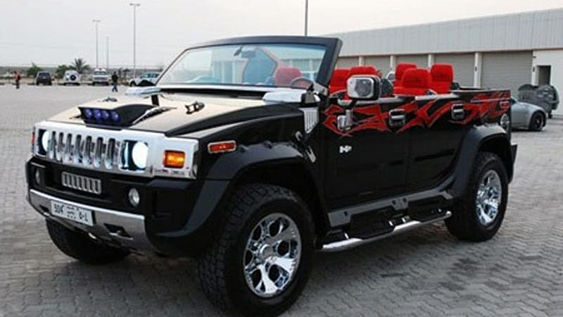 Tattooed Chopped Hummer H2 Convertible Spotted In Yep