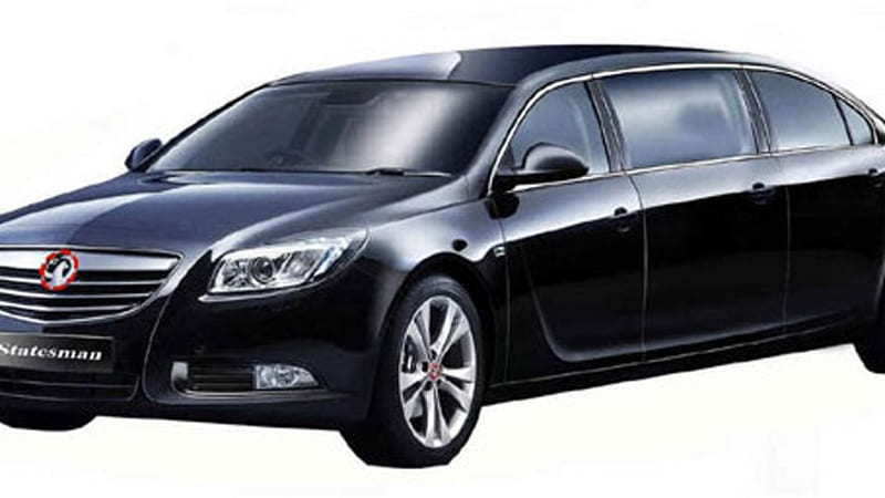 vauxhall insignia limo too much of a good thing autoblog. Black Bedroom Furniture Sets. Home Design Ideas