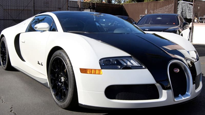 bugatti veyron grand sport blanc noir edition at large in cali autoblog. Black Bedroom Furniture Sets. Home Design Ideas