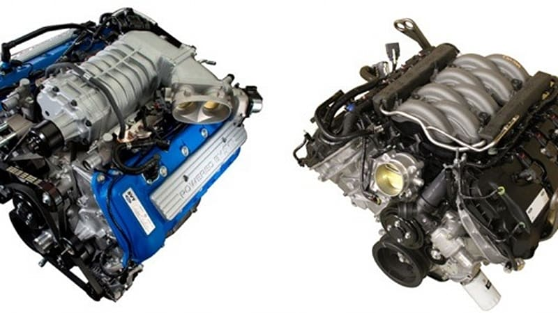 new ford 5 0l and supercharged 5 4l v8s now available as