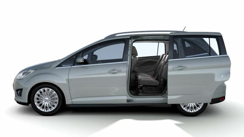 video 2012 ford grand c max shows off its magic middle seat autoblog. Black Bedroom Furniture Sets. Home Design Ideas