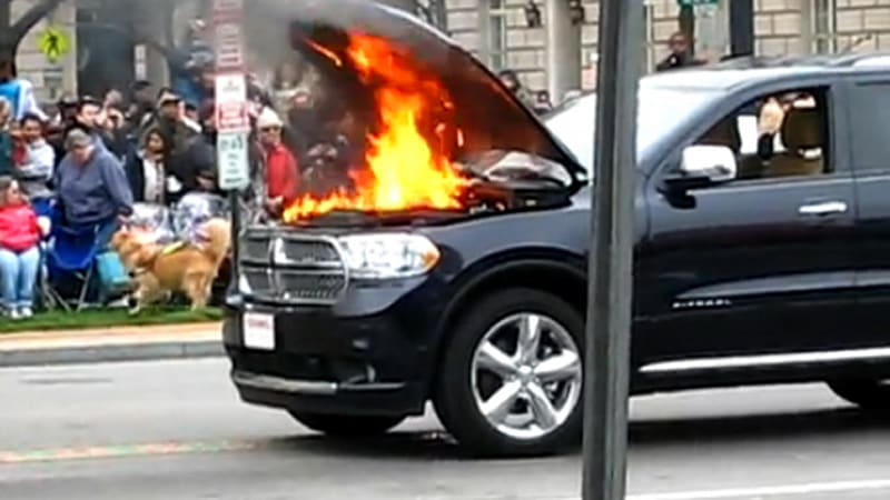 Video Dodge Durango Catches Fire During D C Cherry