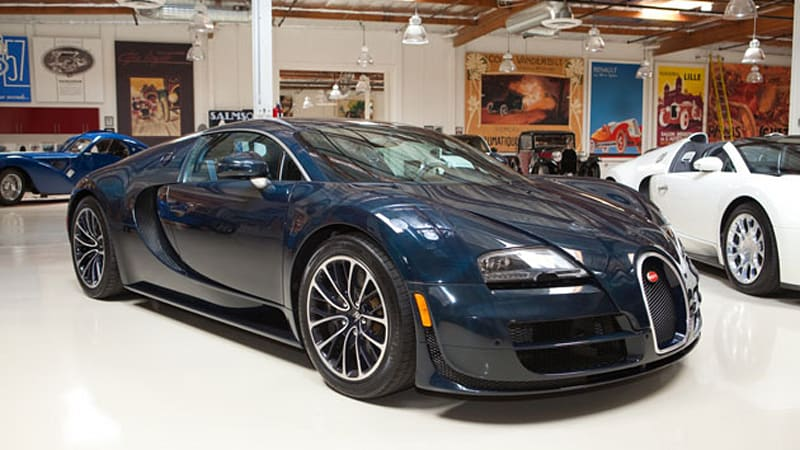 jay leno turns a wheel in the bugatti veyron super sport autoblog. Black Bedroom Furniture Sets. Home Design Ideas