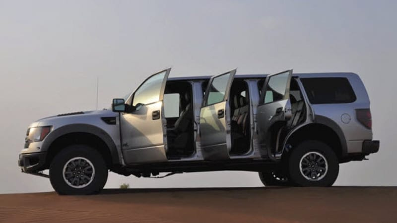 Ford SVT Raptor with... six doors?! Only in the UAE - Autoblog