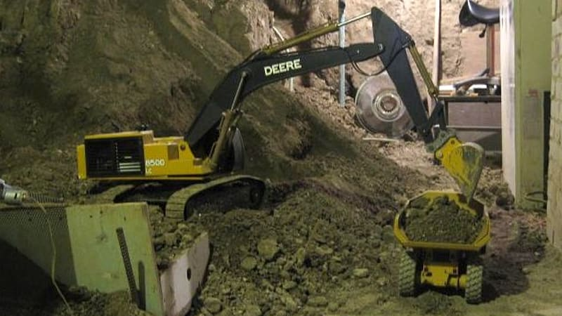 over seven years to dig out basement using r c construction equipment