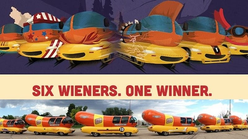 The New Prototype Wienermobile Built On The Mini Cooper S Frame furthermore Oscar Mayer Wienermobile Rally Leaves Us Bunderstruck likewise Oscar Mayer Mini Wiener Rovers Cyber Monday likewise Nostalgia besides Oscar Mayer Wienermobile First Test Motor Trend. on oscar mayer wienermobile specs