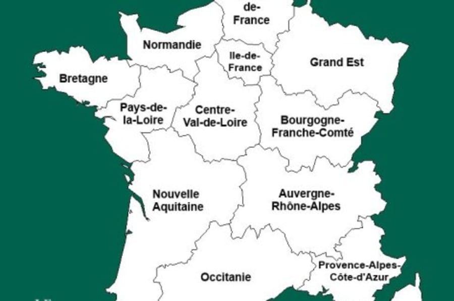 Carte des régions de France 2017 » Vacances - Arts- Guides Voyages
