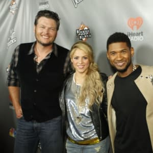 adam levine, blake shelton, shakira, the voice, usher