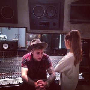 "Ariana Grande Explains Why Justin Bieber Duet ""Didn't Really Get Done"""