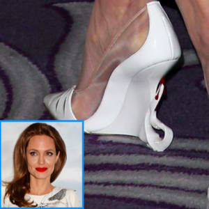 angelina jolie, cambio style, louboutins, shoes