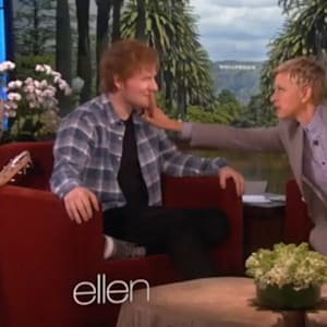 ed sheeran, ed sheeran videos, ellen degeneres
