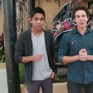allstar weekend, cameron quiseng, Halloween costume, halloween shopping, michael martinez, zach porter