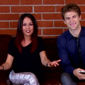 couch sesh, janel parrish, keegan allen, pretty little liars