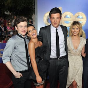 cory monteith, dianna agron, glee, lea michele
