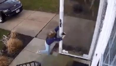 Little Girl Blown Away By Strong Winds