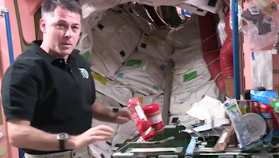 Astronaut Shows How To Make A PB&J In Space