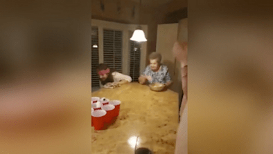88-Year-Old Grandma Is Great At Beer Pong