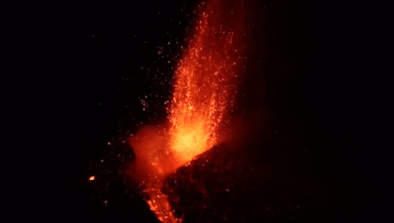Volcano Puts On Incredible Show In Sicily