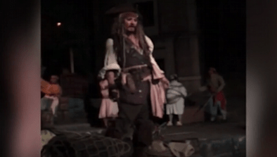 Johnny Depp Surprises Disneyland Guests