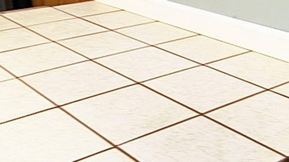 Installing vinyl flooring over ceramic tile