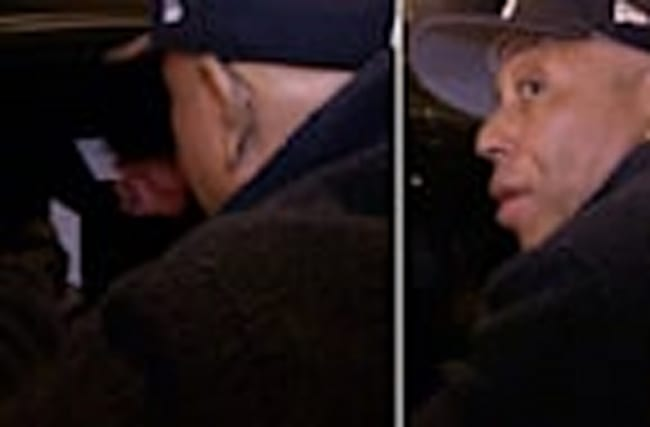 RUSSELL SIMMONS -- OFFERS LIMO FULL OF GIRLS FREE YOGA... Creep Factor Cranked to 10